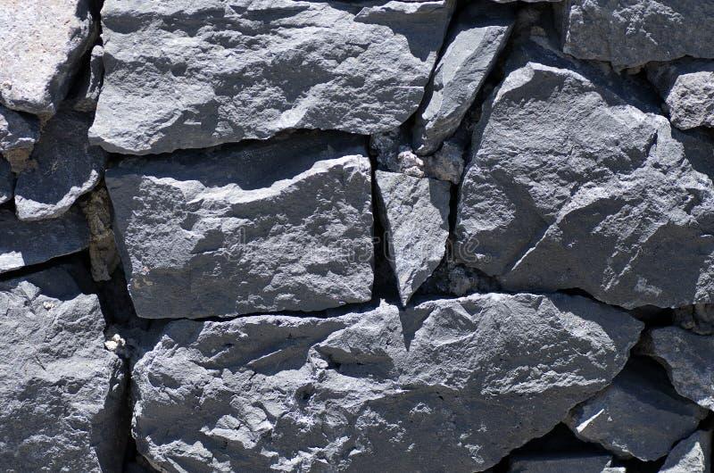 Стена старой лавы каменная стоковое изображение rf