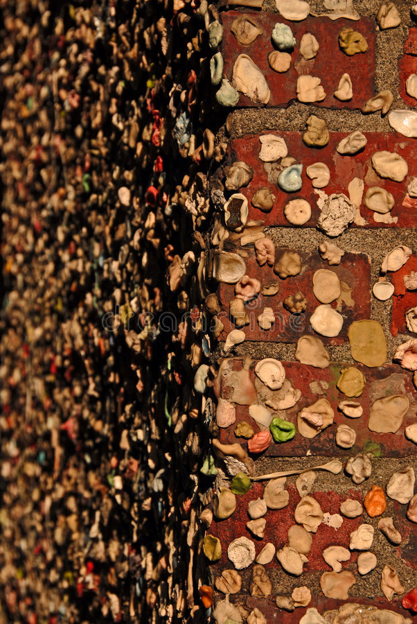стена столба камеди переулка стоковое изображение rf