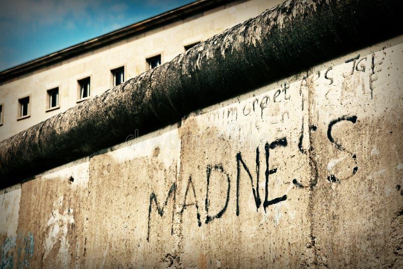 стена сумасшествия berlin стоковое фото rf