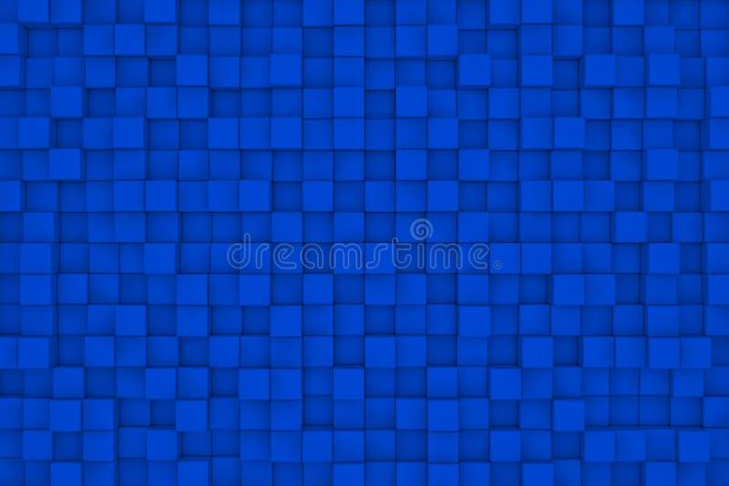 стена схематического изображения кубиков 3d уникально абстрактная предпосылка иллюстрация вектора