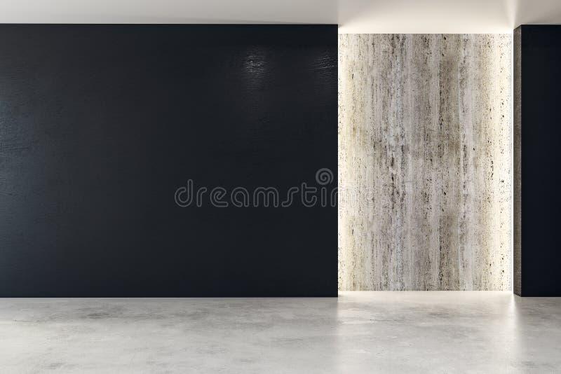 Стена с пустым плакатом в современном интерьере бесплатная иллюстрация