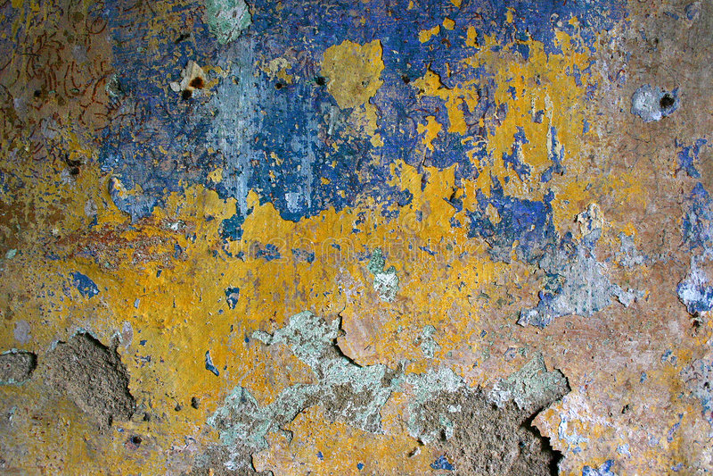 стена текстуры шелушения Grunge Стоковое Изображение
