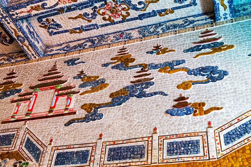 Стена украшения дракона внутренняя стоковое фото