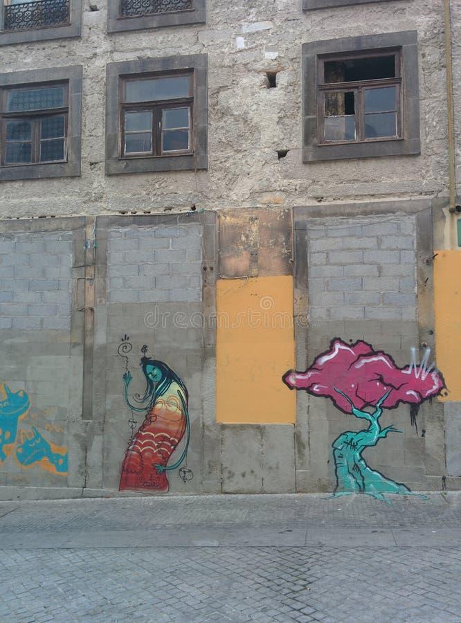 стена улицы надписи на стенах искусства цветастая покрытая стоковая фотография