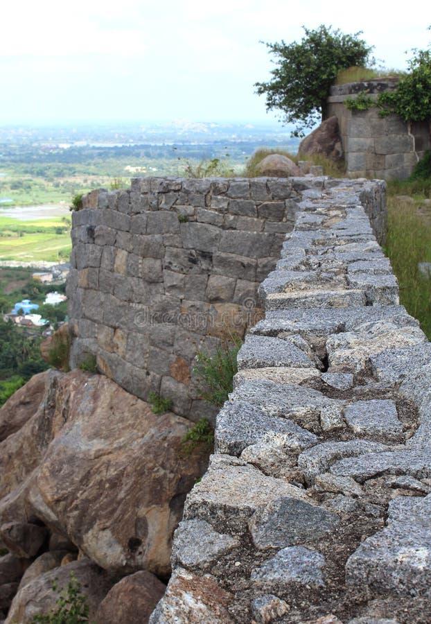 Стена форта Gingee стоковые изображения rf