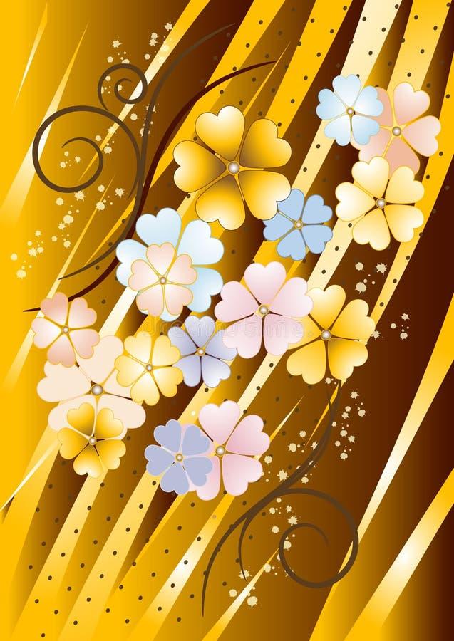 стена цветков предпосылки коричневатая иллюстрация штока