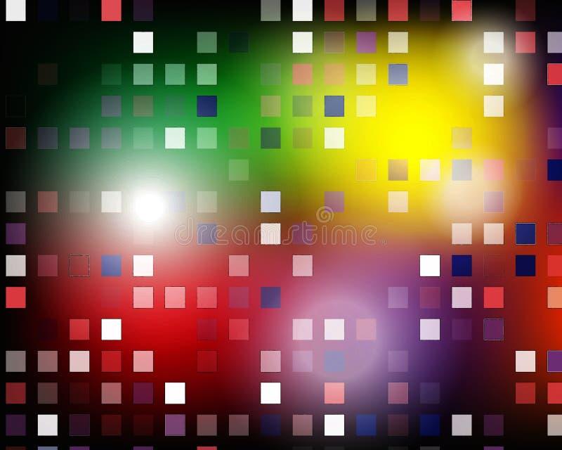 Стена цветов маленьких пастелей картины мозаики плиток квадратных красочных ярких голубая розовая текстурировала естественные кам иллюстрация штока