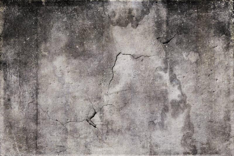 Стена цемента Grunge серая с отказом в ем стоковая фотография rf