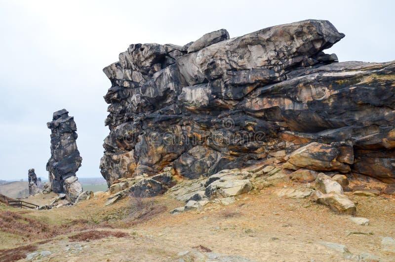 Стена дьявола s около Thale стоковое фото rf