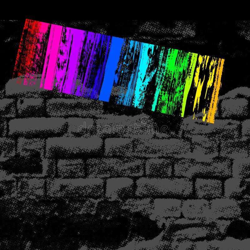 стена grunge иллюстрация штока