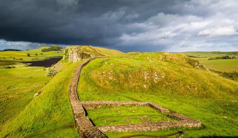 Стена Hadrian, Англия стоковые фотографии rf