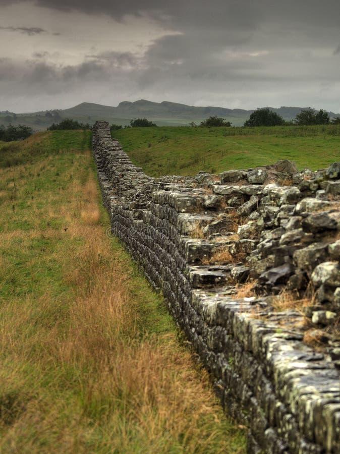 стена hadrians стоковое изображение