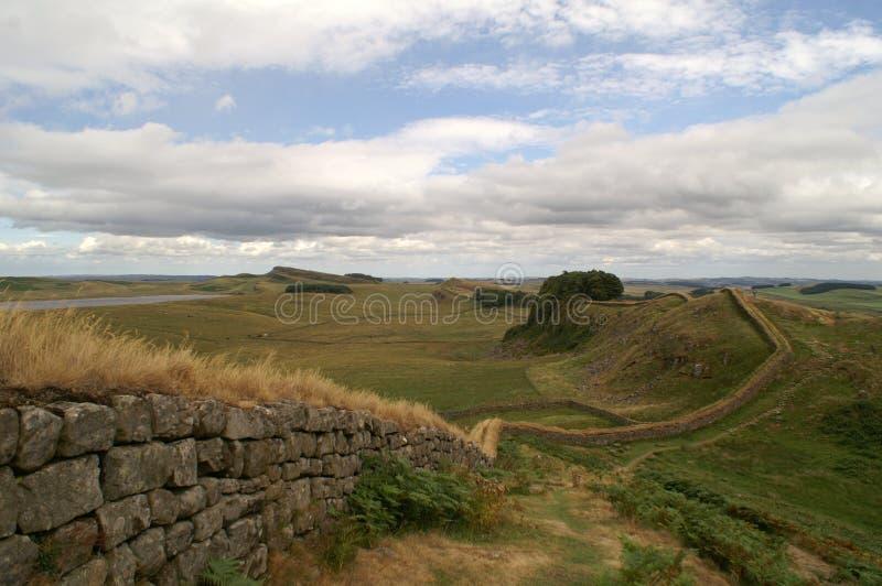 стена hadrians стоковая фотография