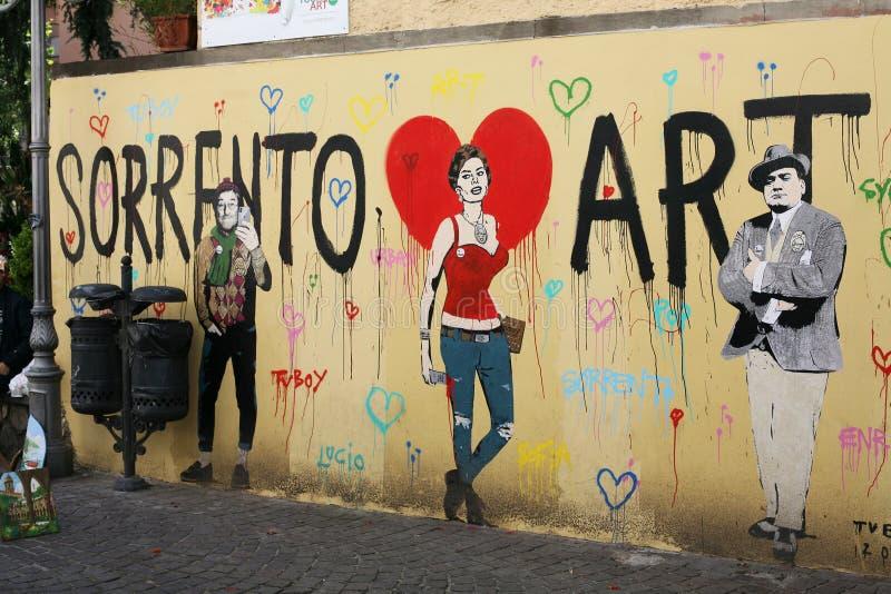 Стена Itay искусства Сорренто стоковое изображение