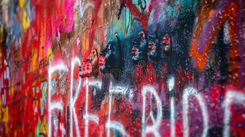 Стена Lennon, Прага стоковое фото