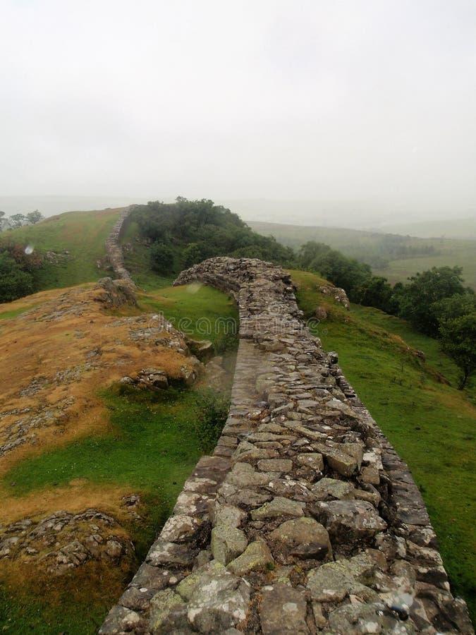 Стена ` s Hadrian стоковые фотографии rf