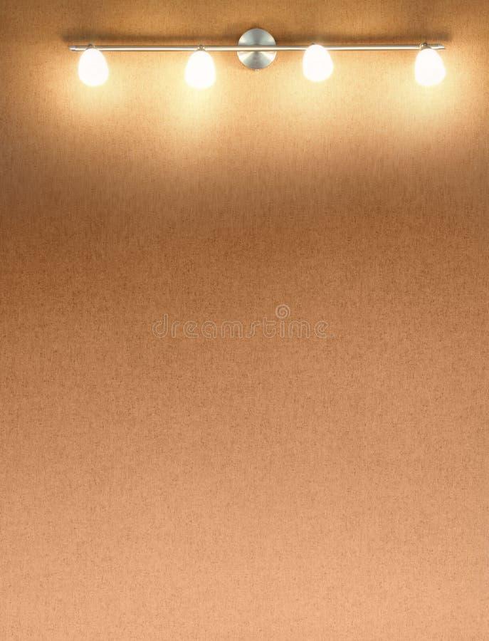 Стена Spotlit стоковые изображения rf