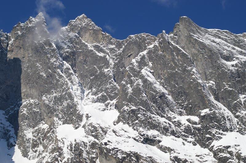 стена troll горных склонов стоковое фото rf