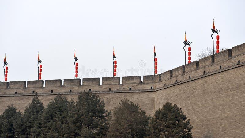 стена XI xian города стоковая фотография