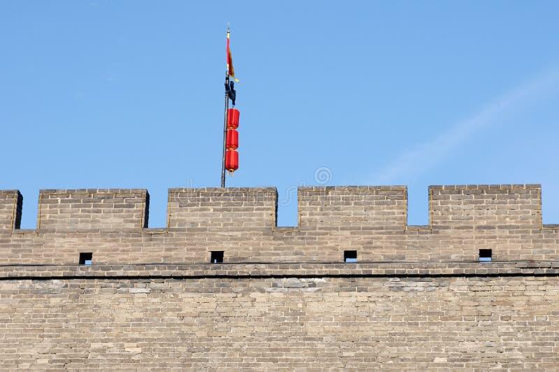 стена xian города фарфора историческая стоковое фото