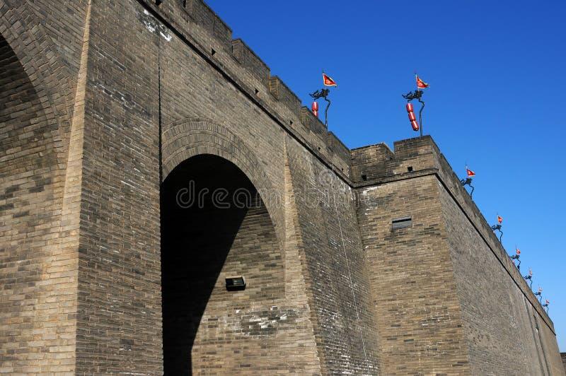 стена xian города фарфора стоковое фото