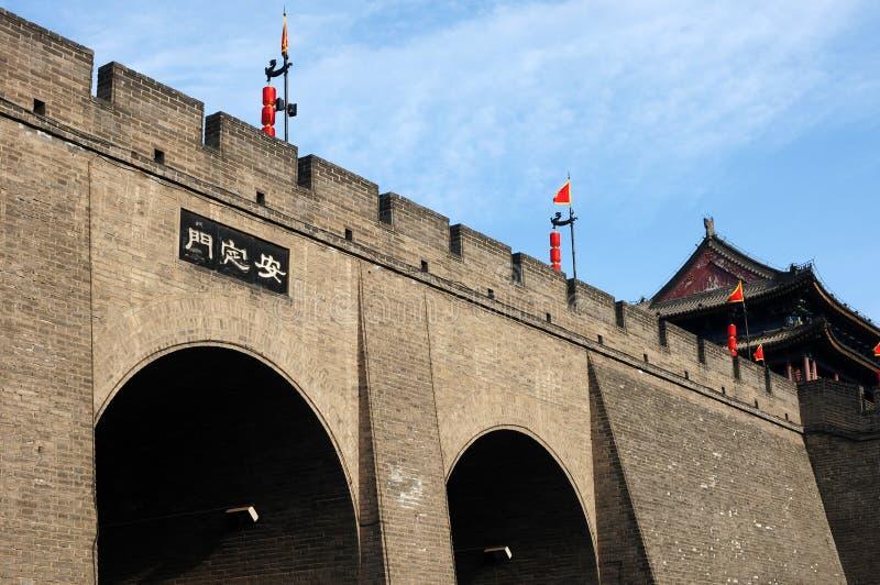 стена xian города стоковые изображения