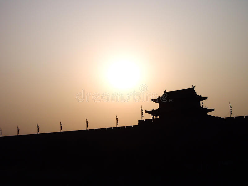 стена xian города фарфора стоковое фото rf