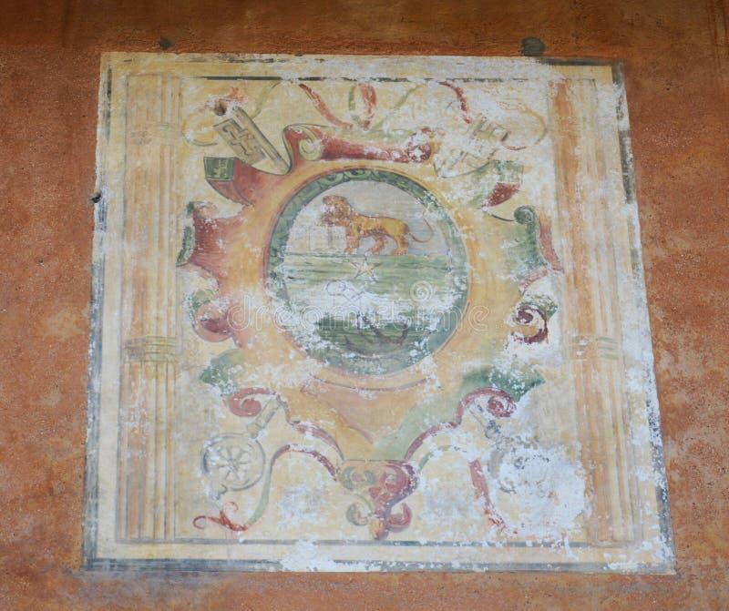 Стенная роспись фрески в Asolo, Италии стоковые фото
