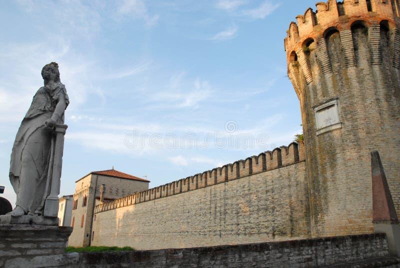 Стены виллы Giustinian в Roncade в провинции Тревизо в венето (Италия) стоковое фото
