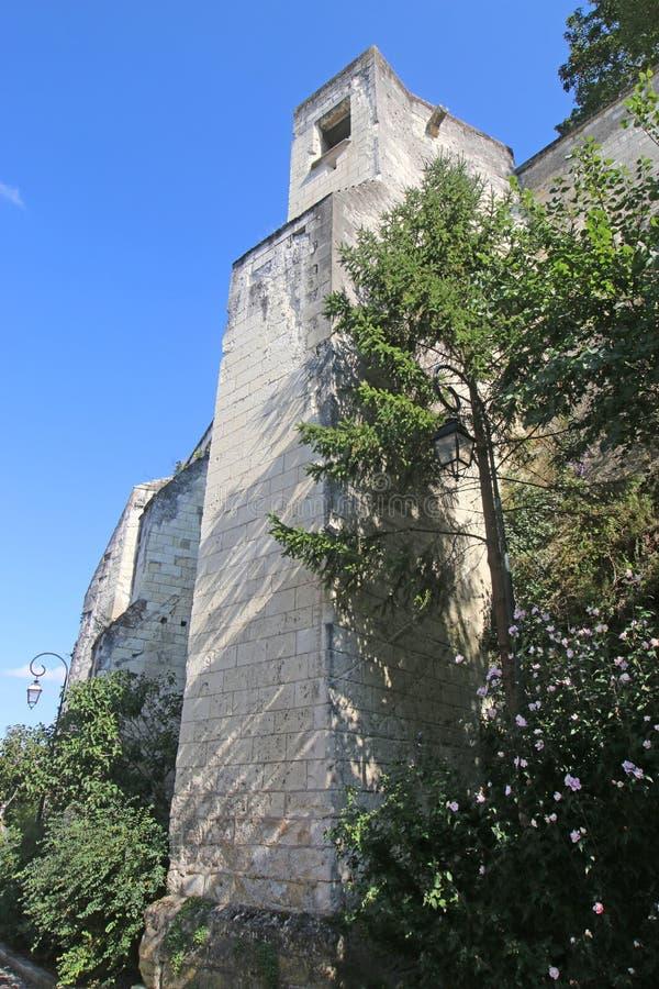 Стены города в Loches, Франции стоковые изображения