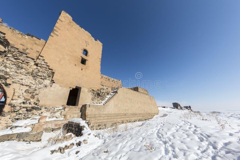 Стены города древнего города ани, Kars, Турции стоковые изображения rf