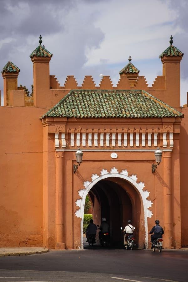 стены города старые Bab El Arhdar marrakesh Марокко стоковая фотография rf