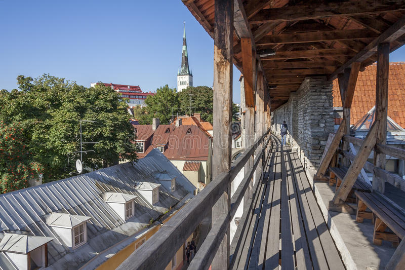 Стены города Таллина, Эстония стоковая фотография