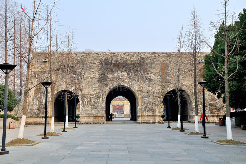 Стены города Xian стоковые фотографии rf