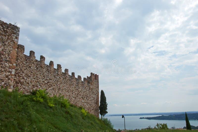 Стены городища стоковое фото rf