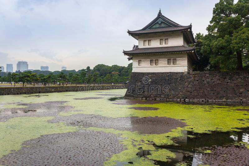 Стены имперского дворца в токио стоковая фотография