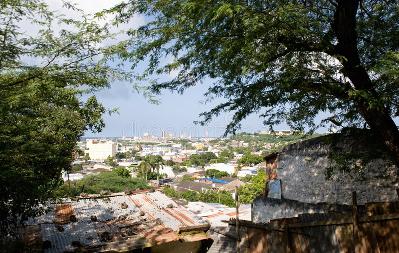 стены Колумбии города cartagena стоковые фото