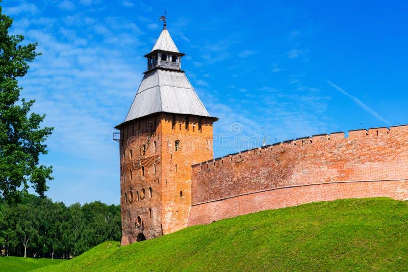 Стены Кремля в Новгороде большой стоковые изображения
