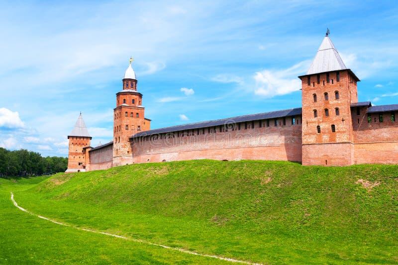 Стены Кремля в Новгороде большой стоковое фото rf