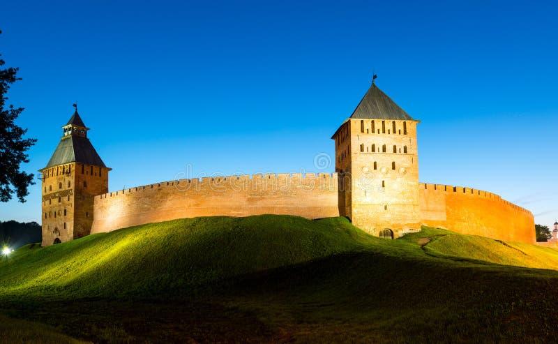 Стены Кремля в Новгороде большой стоковое изображение rf