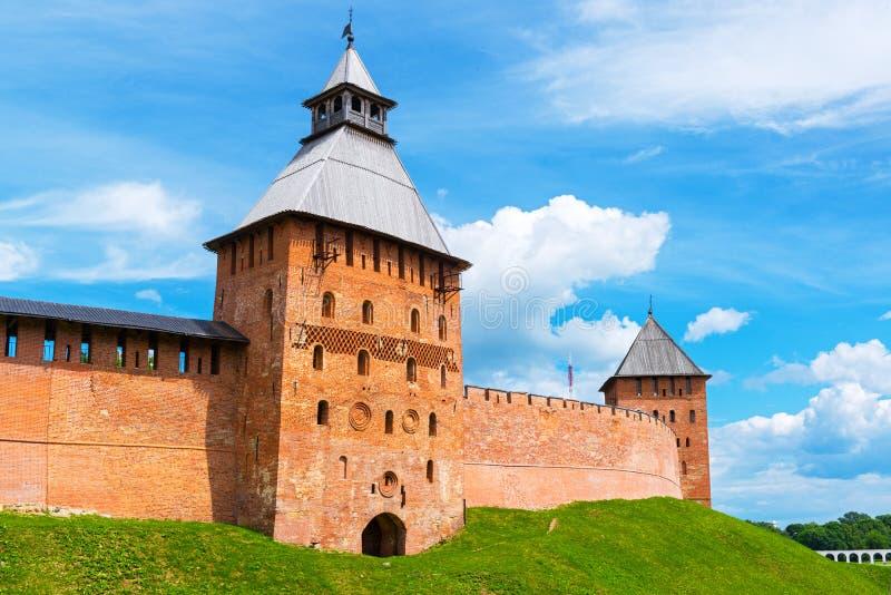 Стены Кремля в Veliky Новгороде стоковое изображение