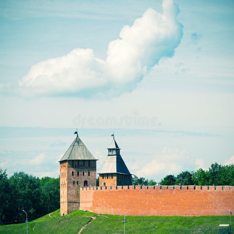 Стены Кремля в Veliky Новгороде стоковое фото