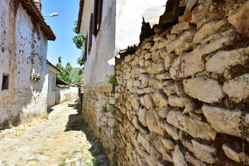 Стены дома деревни кирпича стоковое изображение
