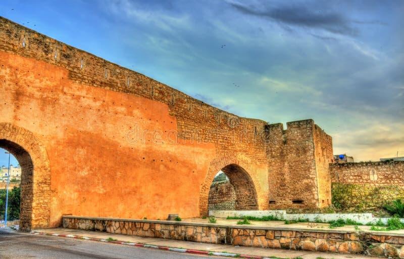 Стены древнего города Safi, Марокко стоковое изображение rf