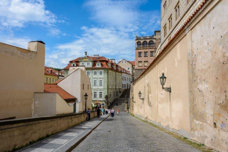 Стены старого замка Праги, Праги, чехии стоковые фотографии rf