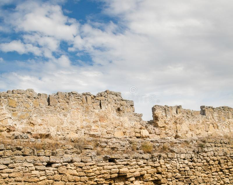 Стены старой крепости Akkerman в Украине стоковое изображение rf