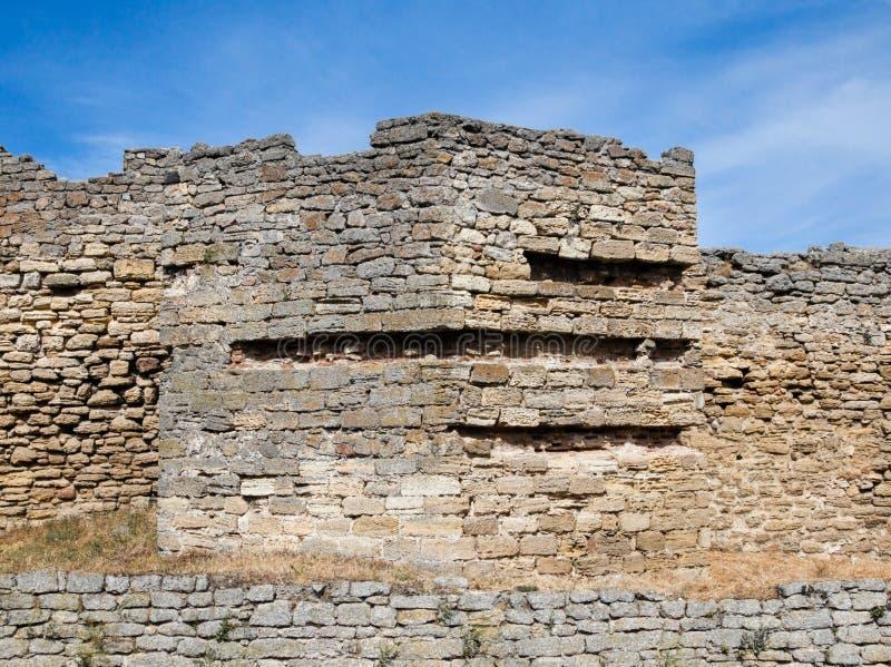 Стены старой крепости Akkerman в Украине стоковое фото