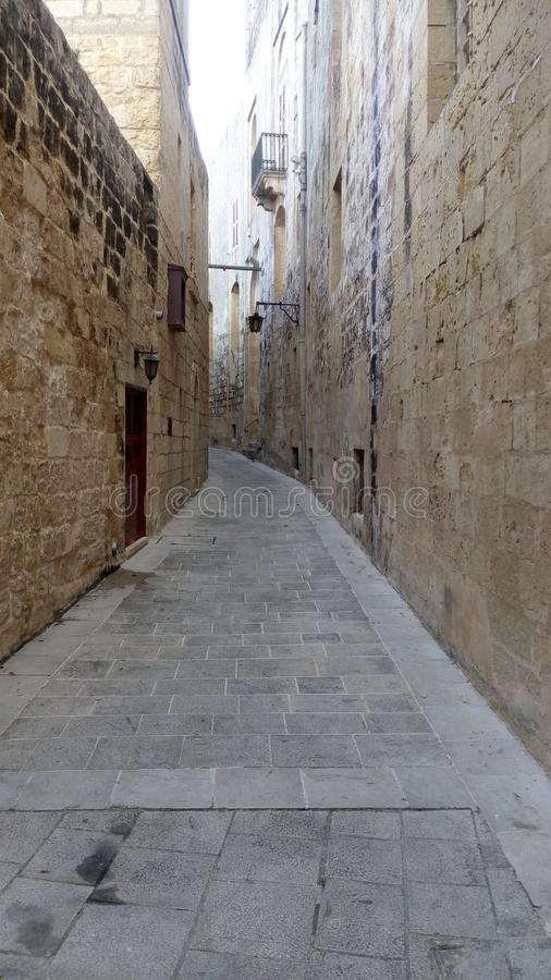 Стены & улица от города стоковое изображение