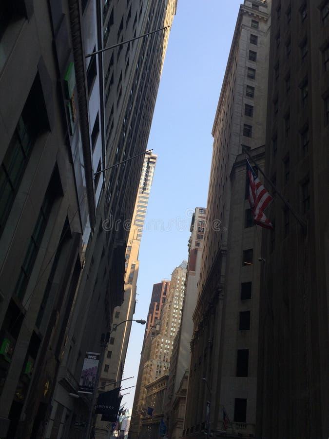 Стены Уолл-Стрита стоковое изображение rf