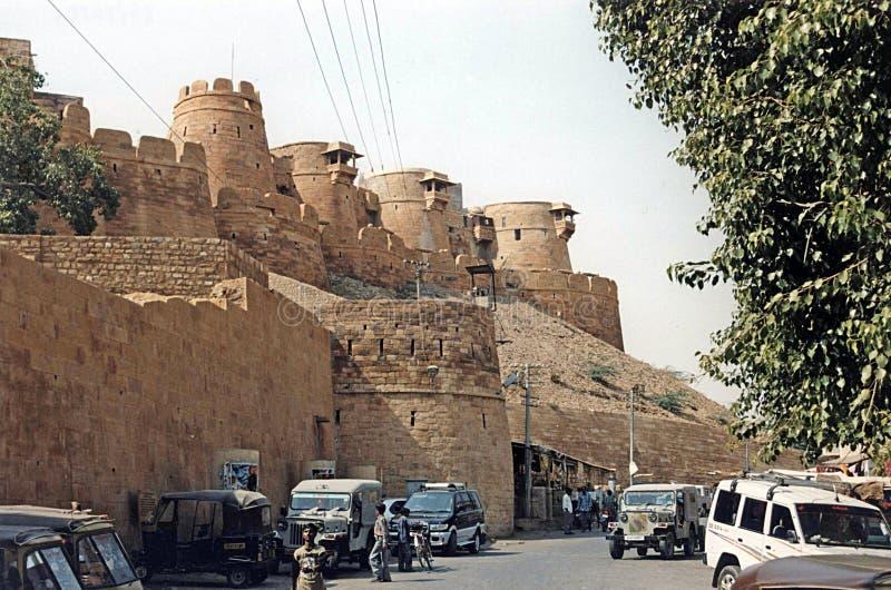 Стены Jaisalmer стоковое изображение rf